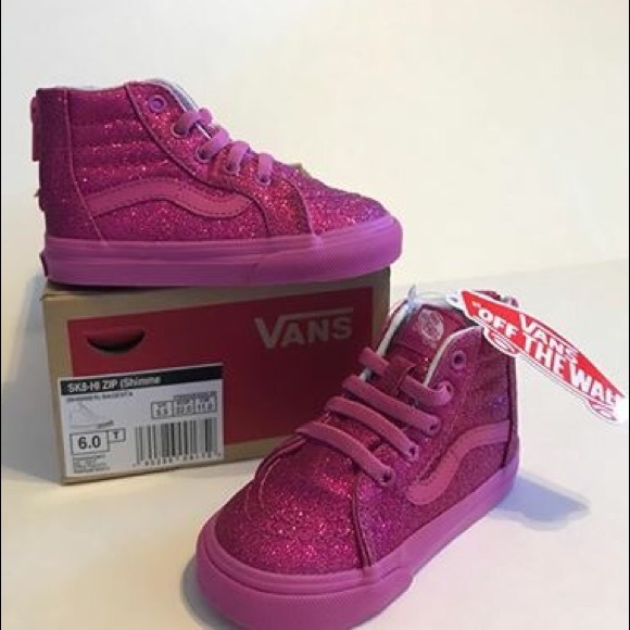 4f3d840076 NEW VANS SK8-HI ZIP SHIMMER Size 6.0 Toddler